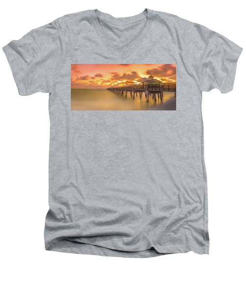 Sunrise At Juno Beach Men's V-Neck T-Shirt