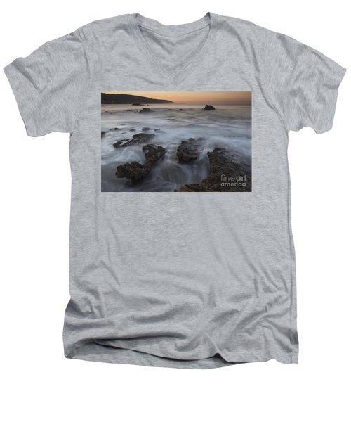 Men's V-Neck T-Shirt featuring the photograph Sunrise At Laguna Beach II by Keith Kapple
