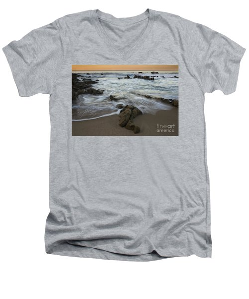 Sunrise At Laguna Beach Men's V-Neck T-Shirt