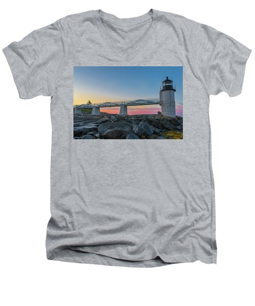 Sunrise At Marshall Point Men's V-Neck T-Shirt