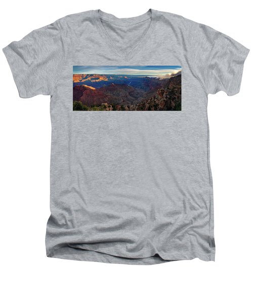 Sunrise At Navajo Point Men's V-Neck T-Shirt