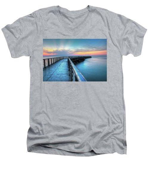 Sunrise At Sebastian Inlet Men's V-Neck T-Shirt