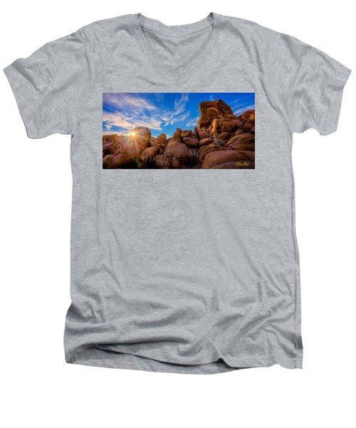 Sunrise At Skull Rock Men's V-Neck T-Shirt