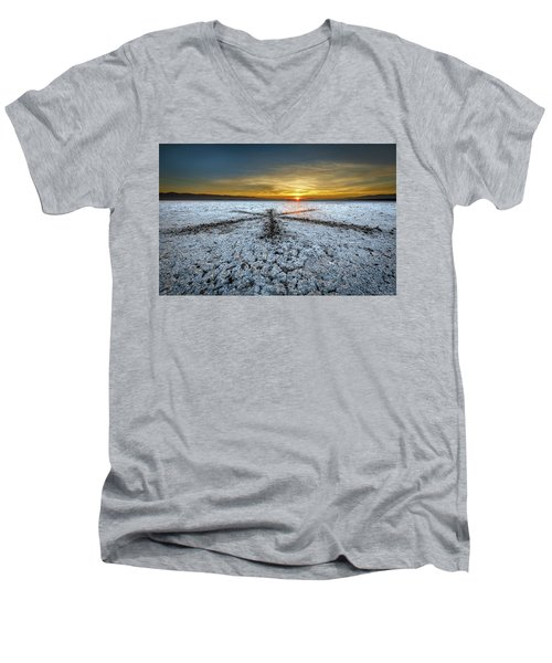 Sunrise At Soda Lake Men's V-Neck T-Shirt