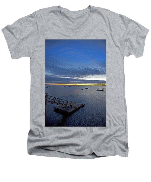 Sunrise At The Barnstable Yacht Club Men's V-Neck T-Shirt