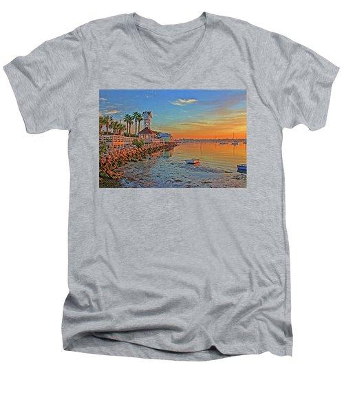 Sunrise At The Pier Men's V-Neck T-Shirt