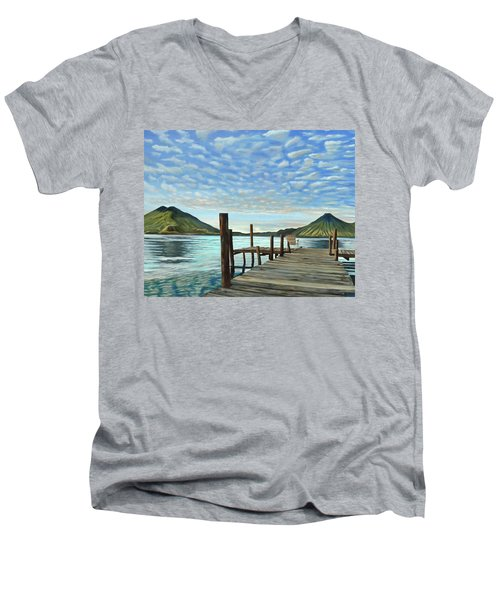 Sunrise At The Water Men's V-Neck T-Shirt