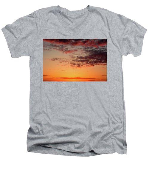 Sunrise At Treasure Island Men's V-Neck T-Shirt