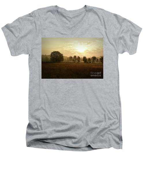 Sunrise Autumn Equinox 2017 Men's V-Neck T-Shirt