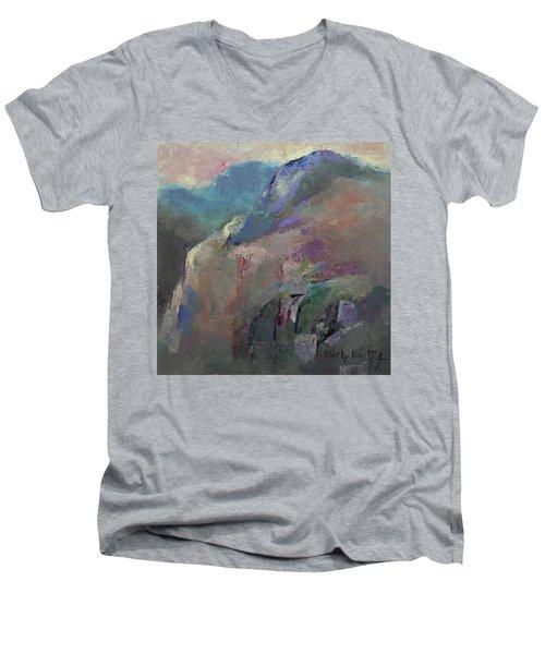 Sunrise Men's V-Neck T-Shirt by Becky Kim