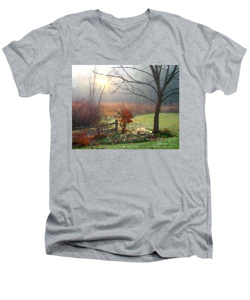 Sunrise Men's V-Neck T-Shirt by Betsy Zimmerli