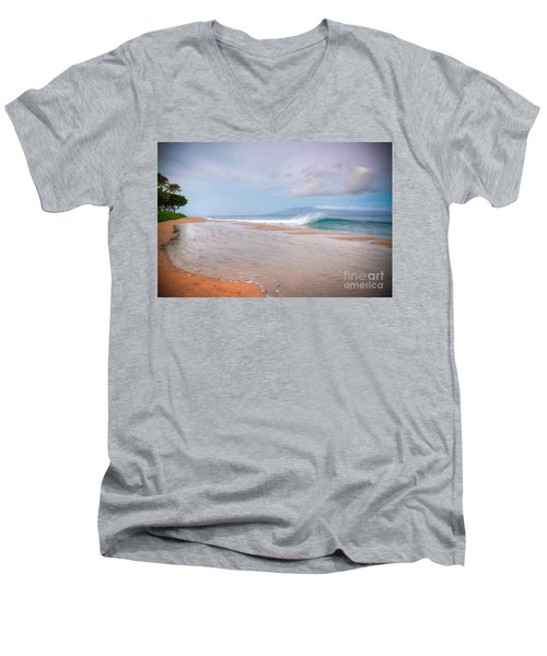 Sunrise Break Men's V-Neck T-Shirt by Kelly Wade