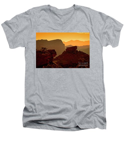 Capital Reef Sunrise Men's V-Neck T-Shirt