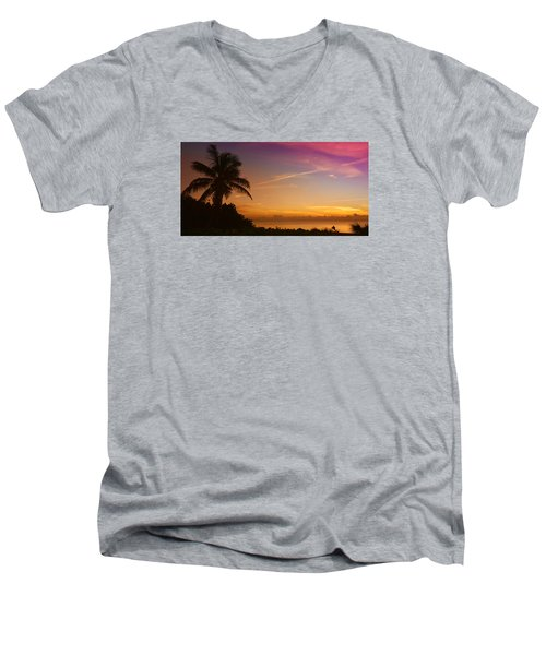 Men's V-Neck T-Shirt featuring the photograph Sunrise Color by Don Durfee