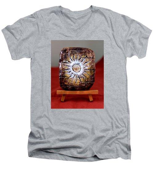 Sunrise Men's V-Neck T-Shirt by Edgar Torres