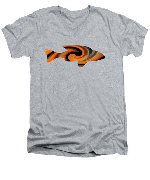 Sunrise Fish Men's V-Neck T-Shirt