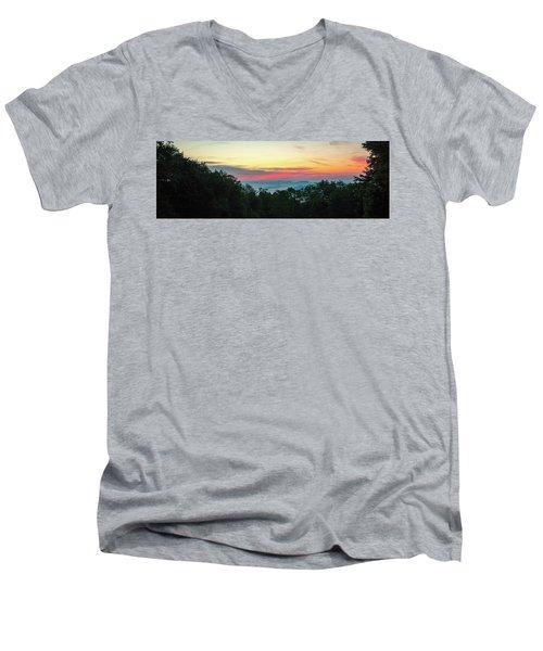 Sunrise From Maggie Valley August 16 2015 Men's V-Neck T-Shirt