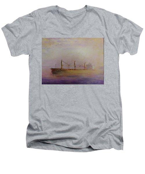 Sunrise Gold Men's V-Neck T-Shirt