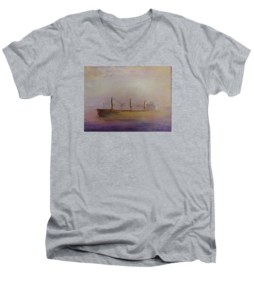 Sunrise Gold Men's V-Neck T-Shirt
