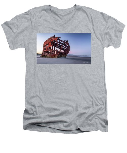 Sunrise In Astoria Men's V-Neck T-Shirt