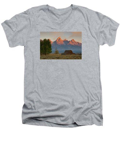 Sunrise In Jackson Hole Men's V-Neck T-Shirt