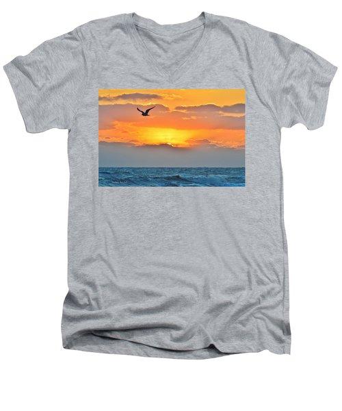 Sunrise In Nags Head Men's V-Neck T-Shirt