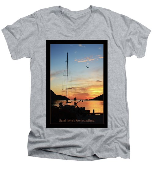 Sunrise In Newfoundland Men's V-Neck T-Shirt