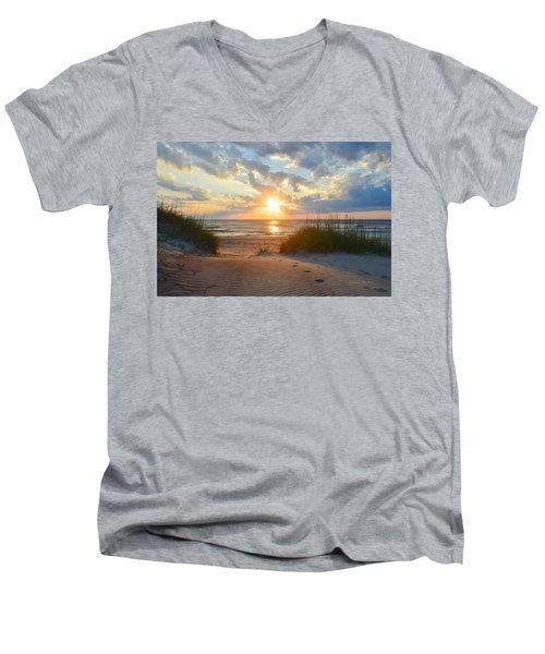 Sunrise In South Nags Head Men's V-Neck T-Shirt