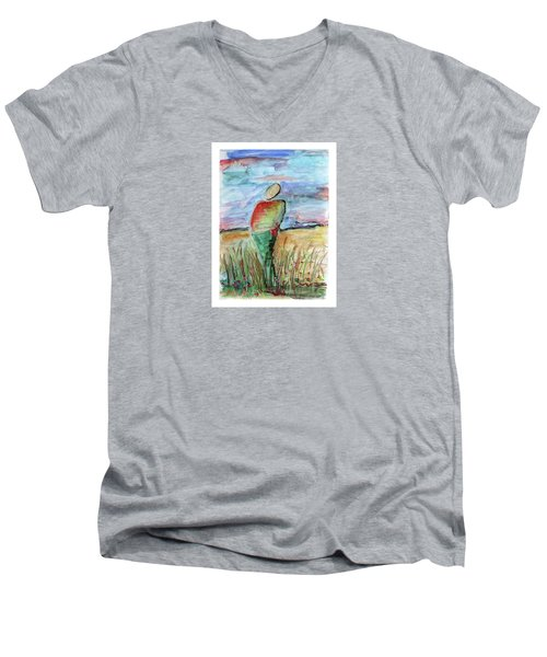 Sunrise In The Grasses Men's V-Neck T-Shirt
