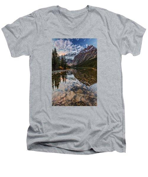 Sunrise In The Rocky Mountains Men's V-Neck T-Shirt