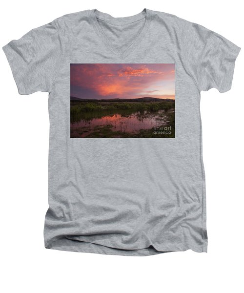 Sunrise In The Wichita Mountains Men's V-Neck T-Shirt