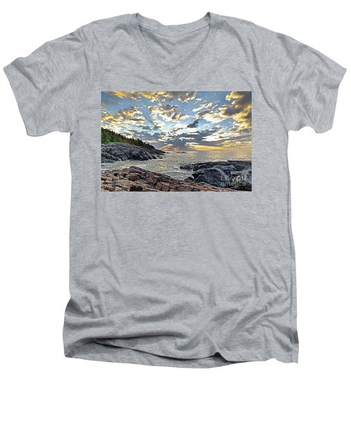 Sunrise On Christmas Cove Men's V-Neck T-Shirt