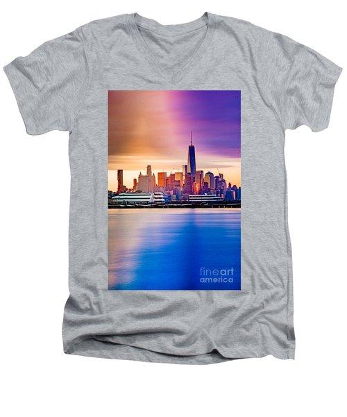 Sunrise On Freedom Men's V-Neck T-Shirt