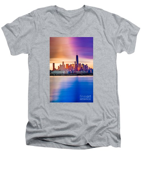 Sunrise On Freedom Men's V-Neck T-Shirt