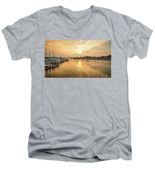 Sunrise On Spa Creek Men's V-Neck T-Shirt