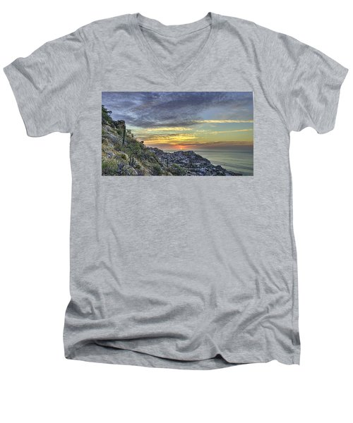 Sunrise On The Coast Men's V-Neck T-Shirt