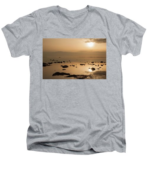 Sunrise On The Dead Sea Men's V-Neck T-Shirt