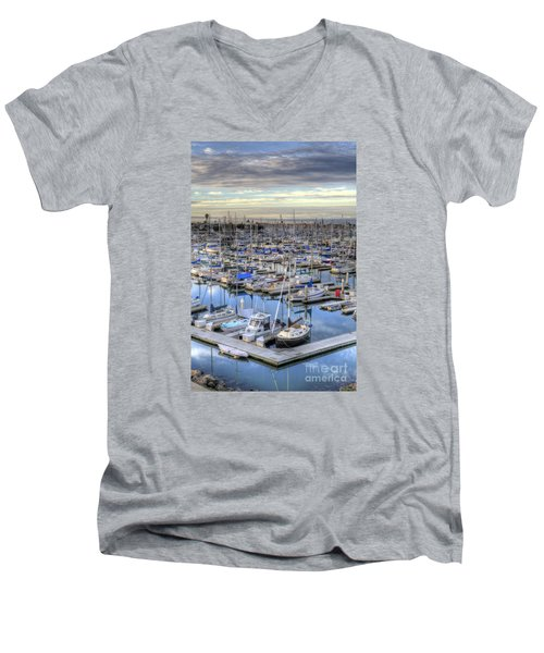 Sunrise On The Harbor Men's V-Neck T-Shirt