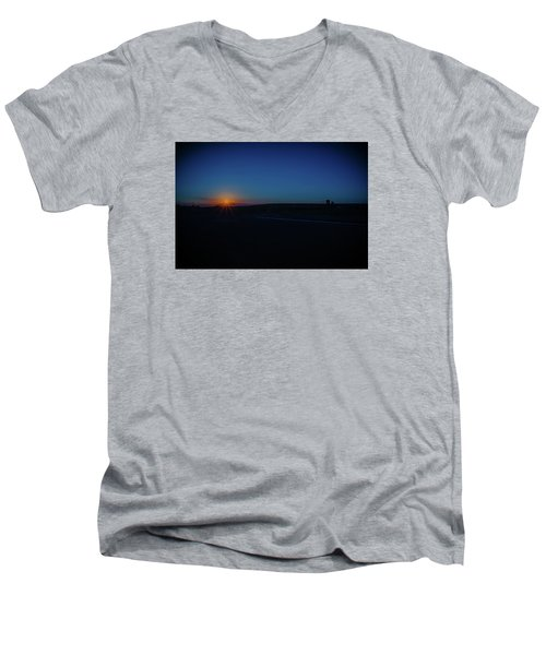 Sunrise On The Reservation Men's V-Neck T-Shirt by Mark Dunton