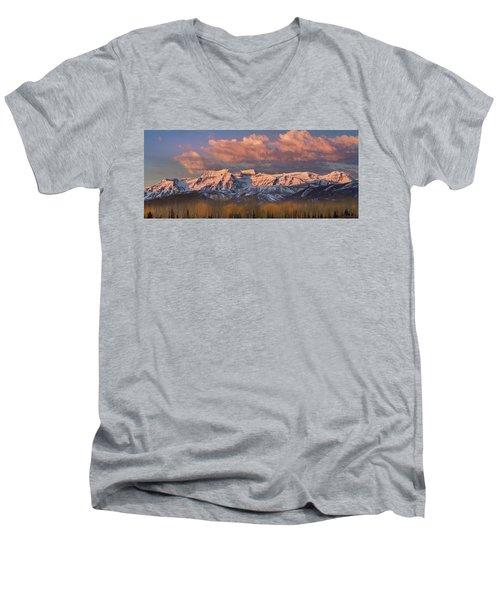 Sunrise On Timpanogos Men's V-Neck T-Shirt