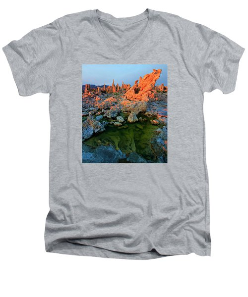 Sunrise On Tufa 2 Men's V-Neck T-Shirt