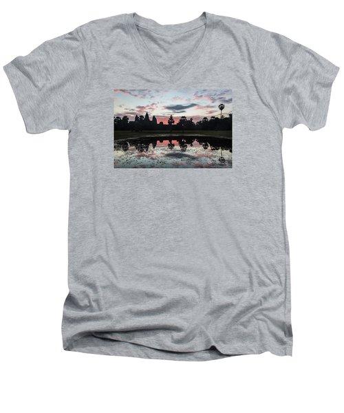 Sunrise Over Angkor Wat Men's V-Neck T-Shirt