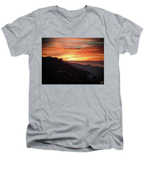 Sunrise Over Santa Rosa Beach Men's V-Neck T-Shirt