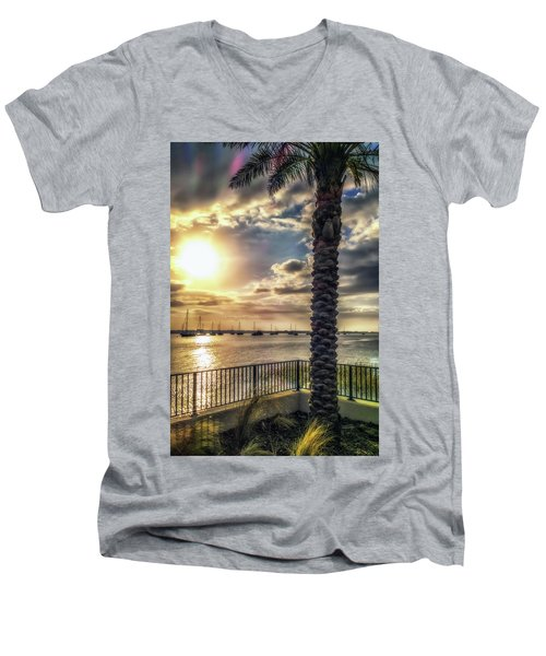 Sunrise Over The Matanzas Men's V-Neck T-Shirt