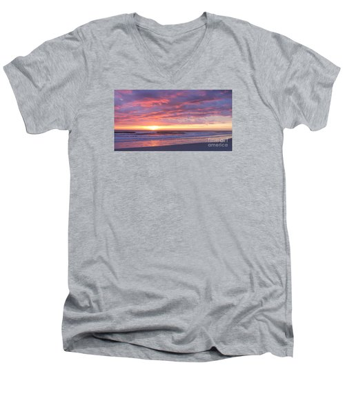 Sunrise Pinks Men's V-Neck T-Shirt