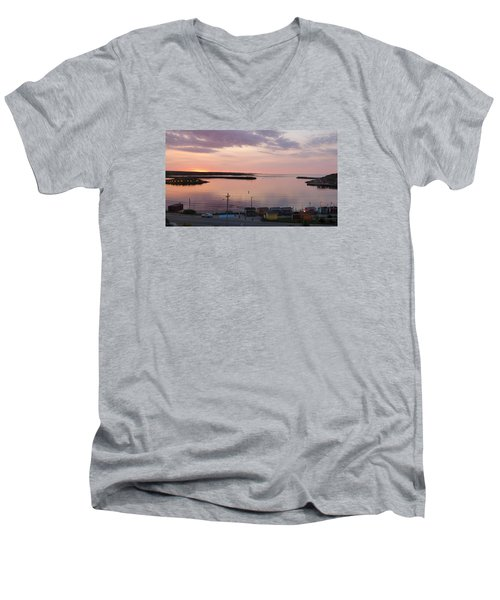 Sunrise Port Aux Basque, Newfoundland  Men's V-Neck T-Shirt