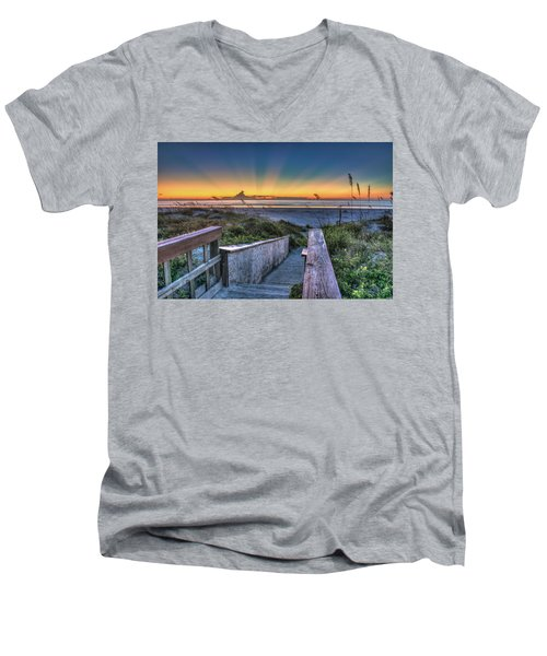 Sunrise Radiance Men's V-Neck T-Shirt