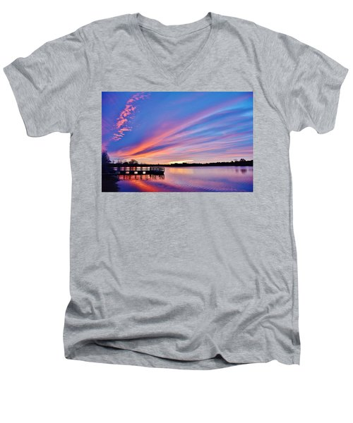 Sunrise Reflecting Men's V-Neck T-Shirt