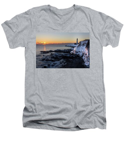 Sunrise Reflection Men's V-Neck T-Shirt