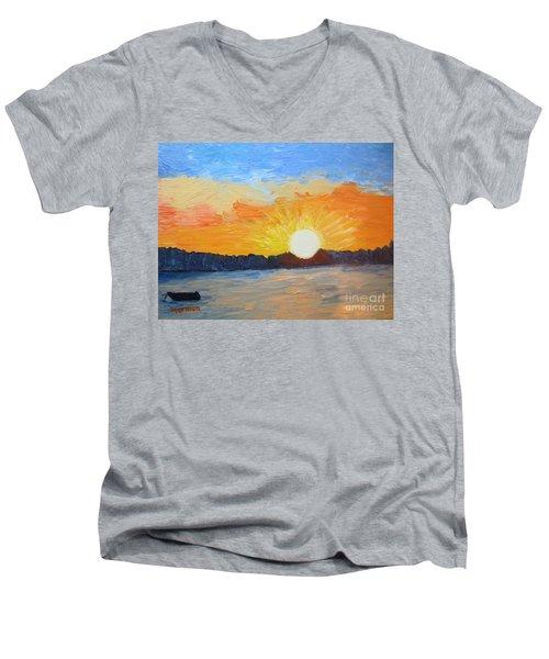 Sunrise At Pine Point Men's V-Neck T-Shirt